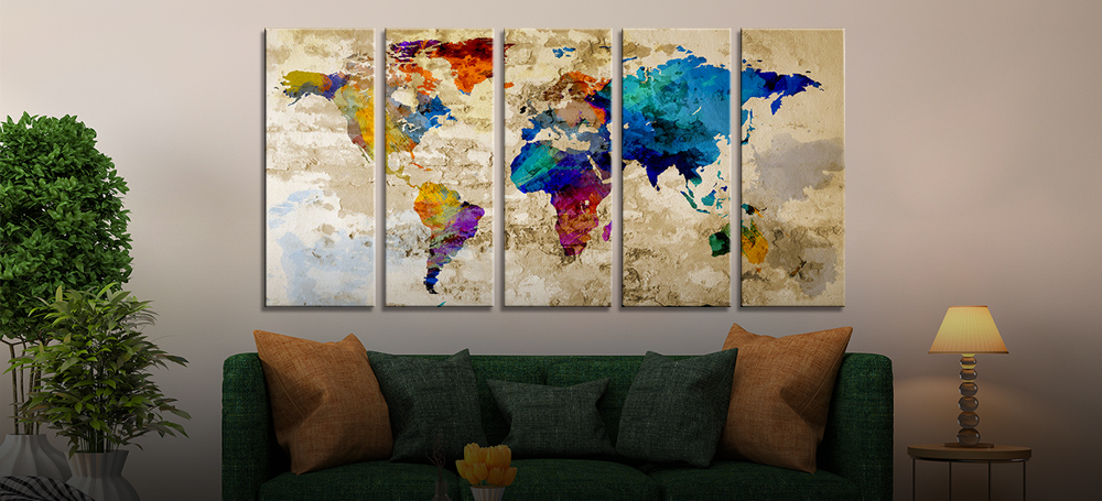 All categories worldmapcanvas extra large wall art wall world map arts gumiabroncs Gallery
